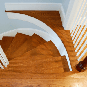 stained-wood-staircase