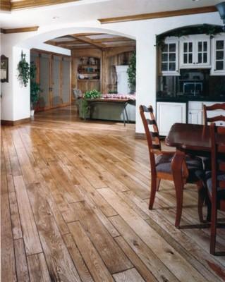 Beveled Edge Character White Oak Light Stain Hardwood Flooring