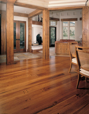 Character Hickory with Plugs Light Stain Hardwood Flooring