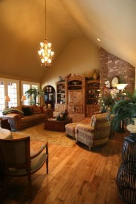 Rustic Hickory Medium Stain Hardwood Flooring