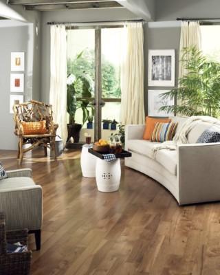 Character Hickory Saddle Hardwood Flooring