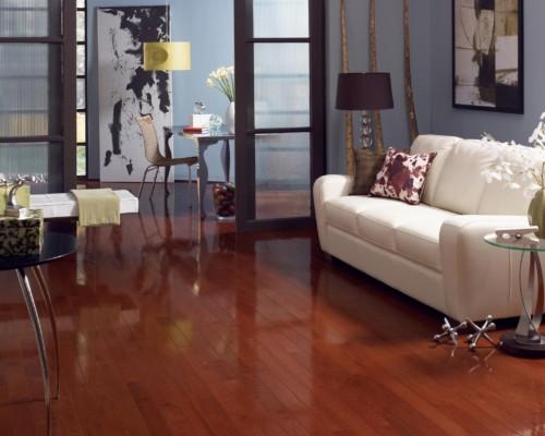 High Gloss Cherry Oak Hardwood Flooring