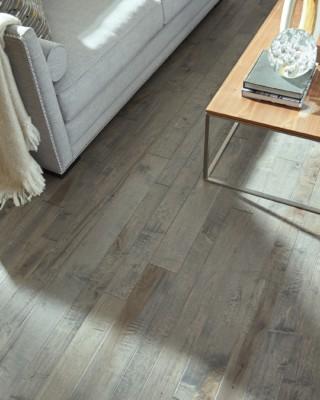 Hand Crafted Ocean Gray Maple Hardwood Flooring