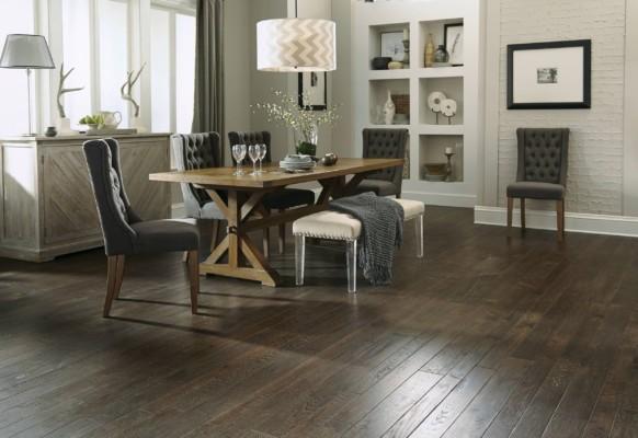 Hand Crafted Royal Brown Oak Hardwood Flooring