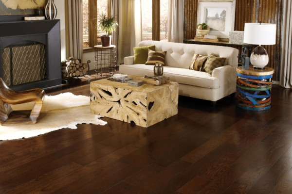 Wide Plank Collection Midnight Room Hardwood Flooring